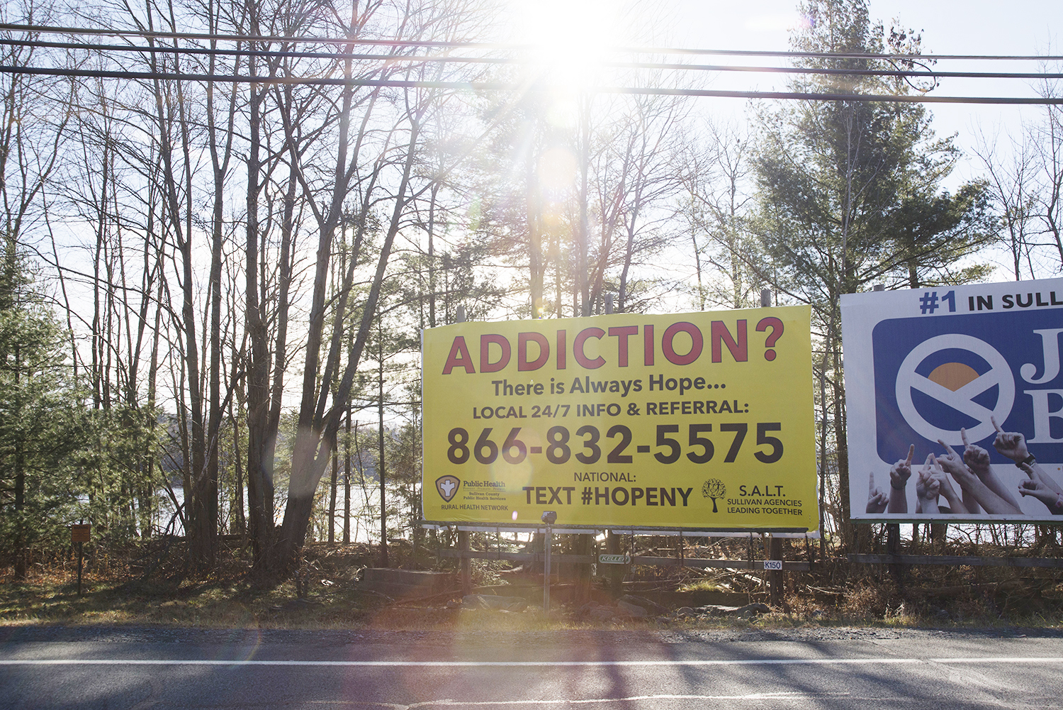addiction billboard